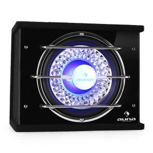 "CB250-34 Auto-Subwoofer 25cm (10"") 300W RMS Bassbox 600W max. blau Lichteffekt 25 cm (10"")"