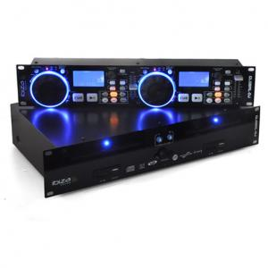 Global DJ Doppel CD Player 2x USB 2x SD MP3 Scratch