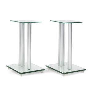 BS28 Paar Boxenständer Glas Aluminium <10kg belastbar