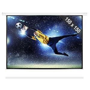 Beamer 150x150cm Leinwand Rollo Heimkino HDTV 203cm 1:1