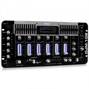 DJM-102 4-Kanal-Mixer LED Echo Effekte Battle Profi
