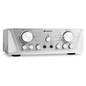 SKY-103 HiFi-Karaoke-Verstärker 100W RMS 2x Mikrofon-Anschluss silber