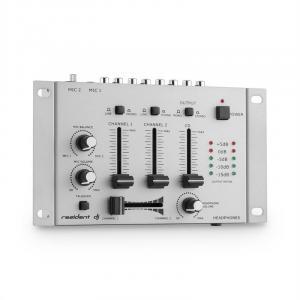 TMX-2211 Mixer Mischpult 3/2-Kanal silber Silber