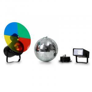 Lichtset Discokugel Stroboskop Blitz PAR Strahler
