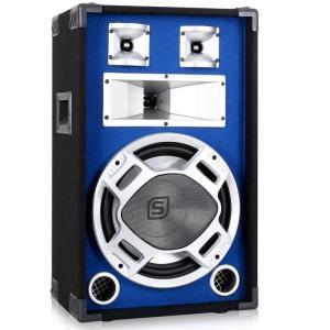 SKY-178 PA-Lautsprecher PA-Box 30cm (12'')-Subwoofer blau LED-Lichteffekt 600W