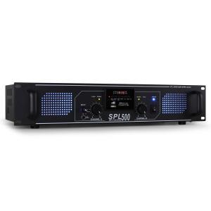 SPL-500 PA-HiFi-Verstärker 2 x 250W USB-SD-MP3