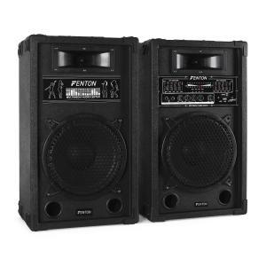 SPA1000 aktives PA-Boxen-Set 25cm 800W USB-SD-MP3