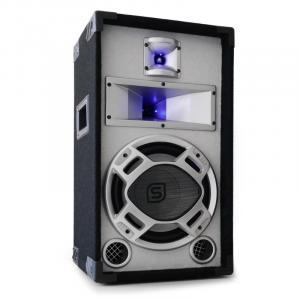 Disco PA-Box 25cm Passiv-Lautsprecher weiß 400W Lichteffekt