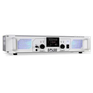 SPL-500 PA-Verstärker USB-SD-MP3 2 x 250W weiss
