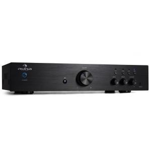 AV2-CD508 HiFi-Verstärker Stereo Edelstahl 600W max. Fernbedienung schwarz Schwarz