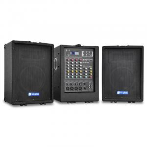 PA-100USB Mobile PA-Anlage 2x 300W USB-MP3 4-Kanal-Mixer