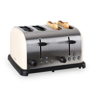 TK-BT-211-C Toaster 4-Scheiben Edelstahl 1650W creme Creme