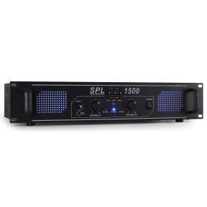 SPL-1500-EQ HiFi-PA-Verstärker 48cm LED-Effekt
