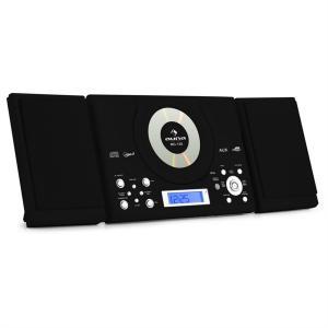 MC-120 Microanlage Vertikalanlage MP3-CD-Player USB AUX Wandmontage schwarz Schwarz