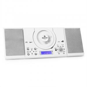MC-120 Microanlage Vertikalanlage MP3-CD-Player USB AUX Wandmontage weiß Weiß
