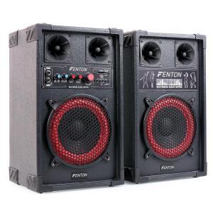 SPB-8 PA Aktiv Passiv Boxen Set 400W max. 20cm Woofer USB SD MP3