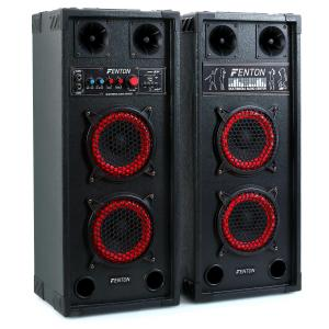 SPB-26 Aktiv Passiv Boxen Set 600W 2x15cm Woofer