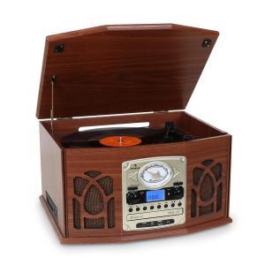 NR-620 Stereoanlage Plattenspieler MP3-Aufnahme Holzgehäuse Weiß