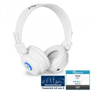 DBT-1 Bluetooth-Kopfhörer Akku Freisprechanlage weiß