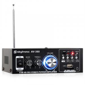 AV-360 HiFi-Stereo-Verstärker USB SD MP3 AUX UKW