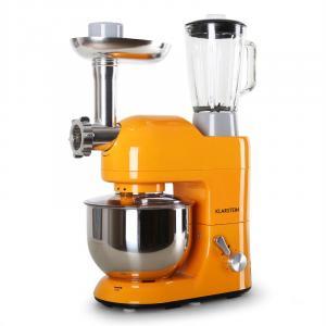Lucia Orangina Rührmaschine Fleischwolf Mixer 1200W 1,6 PS 5L Orange