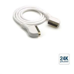 Scart-Kabel - Einzelschirmung, Gold, 1,5m