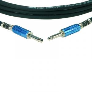 Prime Standard SC3PP05SW Lautsprecherkabel 6,3mm-Klinke 5m