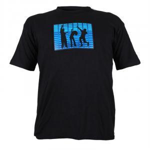 T-Shirt LED einfarbig Dancing People Design Größe L