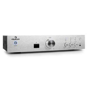 AV2-CD508BT HiFi-Verstärker 600Wmax. AUX Bluetooth silber Silber