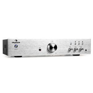 AV2-CD508 HiFi-Verstärker Stereo Edelstahl 600W max. Fernbedienung silber Silber