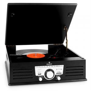 TT-92B Plattenspieler USB SD AUX UKW schwarz Schwarz