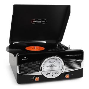 MG-TT-82B Plattenspieler UKW 50er Jahre Retro schwarz Schwarz