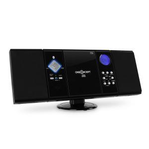 V-12-BT Bluetooth-Stereoanlage USB SD CD MP3 AUX UKW schwarz Schwarz