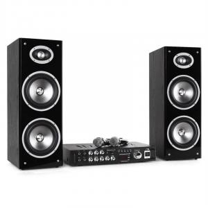 "Karaoke-Star3D-BT Karaoke-Anlage Hifi-System Bluetooth USB 80W RMS 16,5cm (6,5"") Boxen"
