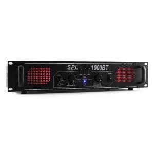 SPL 1000BT Hifi-PA-Verstärker Bluetooth AUX LED EQ 1000W