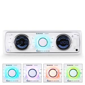MD-170-BT Autoradio weiß MP3 USB SD RDS AUX Bluetooth