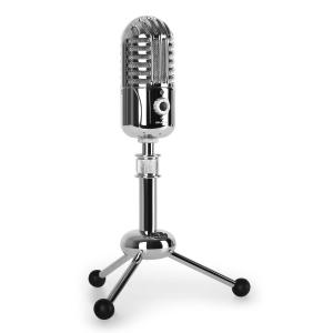 CM280 USB-Kondensatormikrofon silber A/D-Wandler Stativ Niere Studio