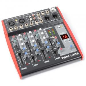 PDM-L405 4-Kanal-Mischpult USB AUX MIC +48V