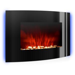 Lausanne Elektrischer Kamin 2000W LED Flammen Fernbedienung Schwarz