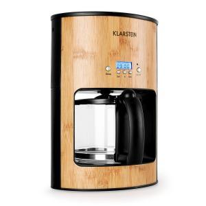 Bamboo Garden Kaffeemaschine 1080W 1,25L Timer Bambus