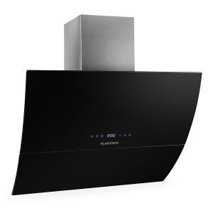 RGL90BL Dunstabzugshaube Kopffrei 90cm 550m³/h Glas Timer schwarz Schwarz | 90
