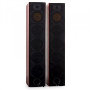 V7B 4-Wege-Bassreflex-Standlautsprecher Paar Mahagoni