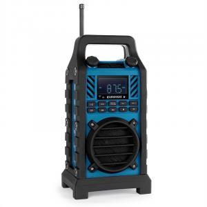 862-BT-BL Baustellenlautsprecher Akku MP3 USB SD AUX Bluetooth blau