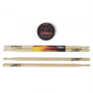 SDSP215 Drumsticks 5A & Puck Pad 2 Paar