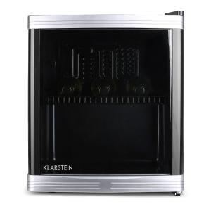 Beerlocker Mini-Kühlschrank 46 Liter 15 Flaschen Klasse B schwarz Schwarz