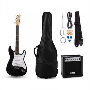 RC100 E-Gitarren-Set Stratocaster-Style schwarz