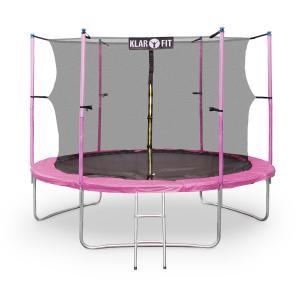 Rocketgirl XXL Gartentrampolin mit Sicherheitsnetz & Leiter 305 cm Pink