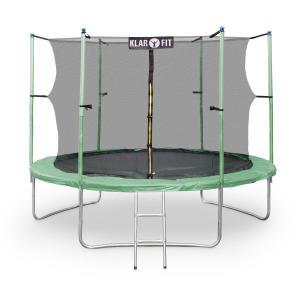 Rocketstar XXL Gartentrampolin mit Sicherheitsnetz & Leiter 305 cm Grün Grün