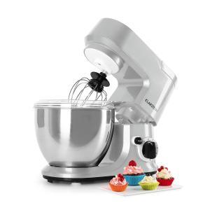 Carina Argentea Küchenmaschine 800W 1,1 PS 4 Liter silber Silber