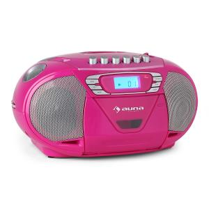 KrissKross Ghettoblaster USB MP3 CD FM portabel pink Pink